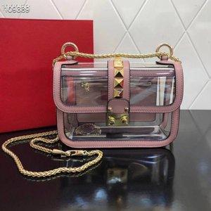Best Selling Designer Handbag Shoulder Bag for Female with Rivets Purses High Quality Ladies Shoulder Bags Free Shipping Clear