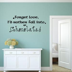 Домашнее украшение Quote английский забыть любовь письмо стены наклейки стикера искусства Гостиная Спальня Съемный Decor Wallpaper