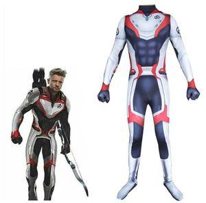4 Endgame Quantum Realm Cosplay Kostüm 3D Print Kinder Erwachsene Captain Marvel Zentai Bodysuit Anzug Overalls