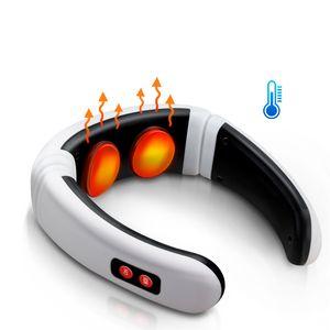 Elektrikli Boyun Masaj Darbe Geri 6 Modları Güç Kontrolü Far Infrared Isıtma Ağrı Kesici Alet Sağlık Gevşeme Makinası