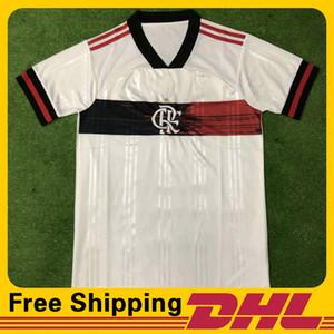 Free DHL Shipping 2020 2021 Flamengo away home soccer jerseys Short Sleeve jersey Football T-Shirt Jersey can be mixed batch Men's T-Shirts
