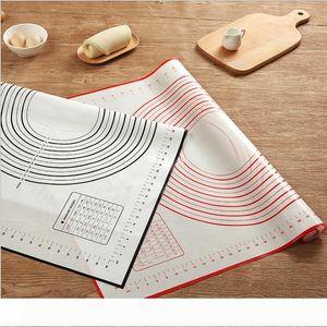 60 * 40 CM Hoja antiadherente para hornear de silicona Mat amasar la pasta del balanceo Pad Mat hornear para hornear trazadores de líneas de ratones utensilios de cocina