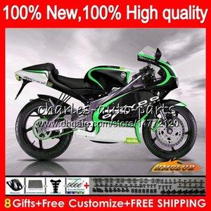 عدة للحصول على ابريليا RS125R RSV125 R أخضر أسود RS 125 RSV125R 70NO.97 RS125 1999 2000 2001 2003 2004 2005 RS125 99 00 01 02 03 04 05 هدية