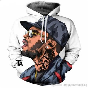 Rapper 2Pac 3D Digital Print Mens Hoodies Spring USA HIPHOP Pullover Long Sleeve Mens Sweatshirts Fashion Male Clothing