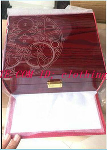 2019 Super High Quality Topselling Red Nautilus Watch Original Box Papers Card Wood Boxes Handbag For Aquanaut 5711 5712 5990 5980 Watch