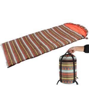 Sac de couchage rectangulaire Équipement portable Camping Enveloppe sommeil Sac étanche Élargissez Épaissir garder au chaud randonnée en plein air ZZA1049