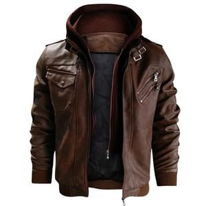 Vestes en cuir pour hommes Automne Nouveau Casual Motorcycle PU Veste Manteaux en cuir taille européenne Vestes Drop Shipping JAYCOSIN Vente Hot