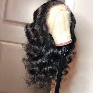 Parrucca frontale in pizzo 360 pre pizzicata con capelli per bambini Parrucca brasiliana per capelli umani Remy con densità di corpo 130 densità per donne nere