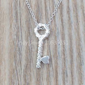 Authentic 925 Sterling Silver pendants Collar San Valentien Lave De Plata Fits European bear Jewelry Style Gift 915302520