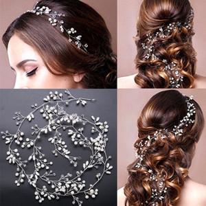 Femmes Perle mariage Couvre-chef filles cheveux vigne Crystal Bridal Diamante Bandeaux Accessoires cosplay hot cheveux Diadème
