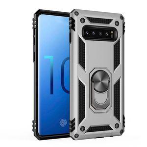 Ímã híbrido à prova de choque Anel de metal Kickstand para Samsung Galaxy S10 S20 Nota10 Nota 20 S21 Ultra S20fe A52 A72 A42 5G