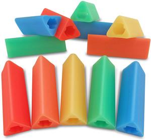 Silikon Kalem Tutma Üçgen Gripperler Food Grade Silikon Üçgen diş kaşıyıcınız Duyu Oyuncak Gereçler Sapları Çok Renkler