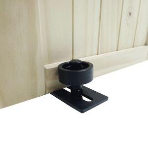 Carbon steel Adjustable Black Powder Coated Bottom Floor Guide Stay Roller Barn Door Hardware
