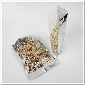 Embalaje Bolsas Stand Up claro delantero de bolsas de embalaje de papel de aluminio Zip Lock bolsa de plástico puede volver a cerrar la bolsa de embalaje al por menor EEA933