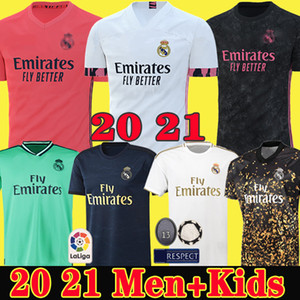 Erkekler Çocuklar Real madrid Formalar camiseta kitleri 2020 futbol formaları SERGIO RAMOS MODRIC 19 20 Maillots de futbol 4th Çocuk kaleci kiti Camisa