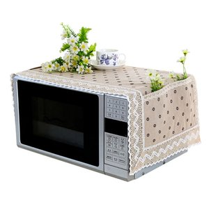 Simple Microwave Oven Cover Linen Cloth Portable Microwave Oven Cover Dust Proof Oil Proof Goods For Home And Kitchen n