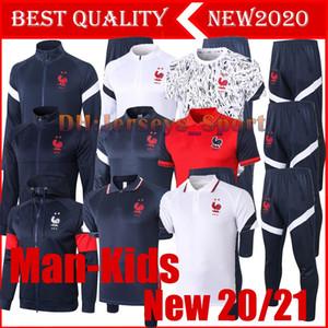 İlk 20 21 Fransa futbol Eşofman Pogba Parça takım elbise ceket 2010 2021 Griezmann chándal MBAPPE adam çocuk takım elbise spor eğitim giyer