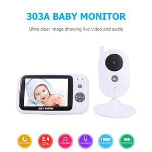 Бесплатная доставка 303A Baby Monitor беспроводной видео Baby Monitor 3,5-дюймовый цветной камеры безопасности 2Way Обсуждение NightVision Детская комната Сейф Мониторинг