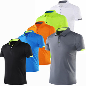 Men Polo Shirt Casual Short Sleeve Quick Dry Workout Gym Running T-Shirts 2019 New Summer Male Clothes Sport Fitness Golf Shirts