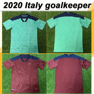 2020 Italia Camisa para hombre del portero de fútbol jerseys Nueva DONNARUMMA MRAHT BUFFON Rojo Verde Fútbol Uniformes de manga corta de Maglie da Calcio