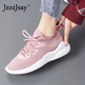 2019 Air Mesh Womens Running Shoes Lace-up Women Trainers Sneakers Female Summer Breathable Athletic Ladies Outdoor Sports Shoes