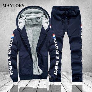 Erkekler Rasgele Eşofman Sonbahar Kış 2 PCS Kapşonlu Sweatshirt Koşucular Kapüşonlular Ceket Eşofman Erkek Spor Takımları Artı boyutu 4XL
