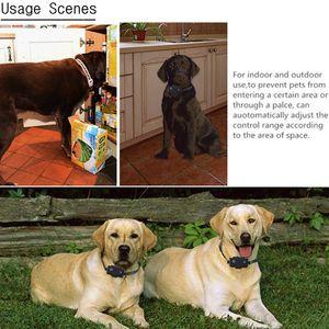 Nachladbare drahtlose elektrische Hunde Haustier Zaun Wasserdicht Ultraschall-Trainingshalsbänder Hundetrainingssystem mit 1 Remote 3 Krägen