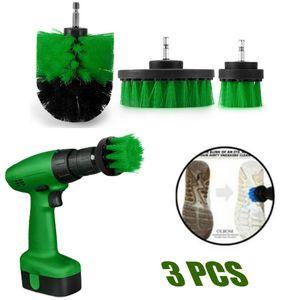 3pcs poder purificador jogo de escova para o banheiro Broca purificador para a limpeza Broca Anexo Kit Escova Scrub Poder