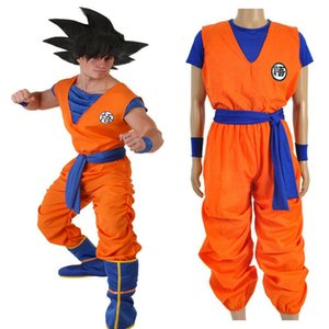 Set costume cosplay Dragonball Dragon Ball Goku Halloween completa Outfit Unisex