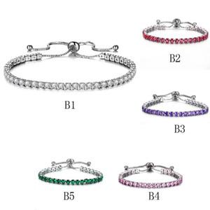 Luxus Österreichischen kristall Tennis armbänder Für frauen 1 Reihe Bling zirkonia Gold Silber Einstellbare armband Armreif Mode Hochzeit Schmuck