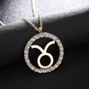 1 Pc Kadınlar Kızlar kolye kolye Kristal Burç Kolyeler 12 Constellation Takı Hediyeler yap B99