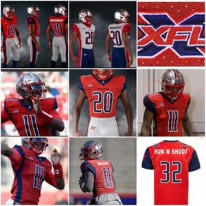 2020 Houston Roughnecks XFL Fußballjerseys Phillip Walker Connor Cook Kyle Hicks Andre Williams Nick Holley Akrum Wadley Marquez Williams