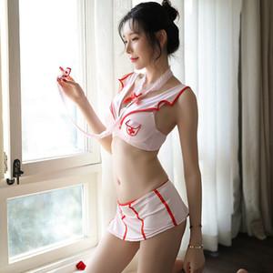 Krankenschwester Anzug New Sexy Cosplay Sex-Appeal Lingerie-süße nette Extreme Versuchung Sexy Pyjamas Set Free Shipping QX1301
