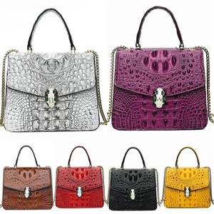 Women Brand Geometric Bag Crocodile Shoulder Bag High Quality Famous Designer For Women Single Bag Clutch Bags#709