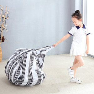 Portable Toy Round Storage Bag Portable Kids Toy Organizer Play Mat Clothes Home Organizers Large Moving Bag Crystal Velvet Storage Bag 4872