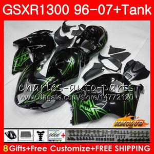Karosserie für SUZUKI Hayabusa GSXR 1300 GSXR1300 96 97 98 99 00 01 07 grün schwarz 24HC.115 GSX R1300 1996 1997 1998 1999 2000 2001 2007 Verkleidung