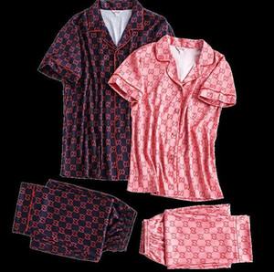 Couple pajamas Sleepwear spring thin section silk home service suit womens and man sexy pajamas two-piece sleepwear