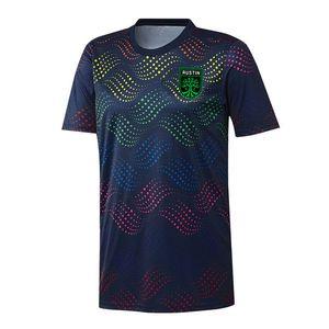 2020 MLS Austin FC Donanma Pride Öncesi Maç Jersey futbol formaları futbol forması Gurur Öncesi Maç futbol formaları Aktif Erkek Tişörtler