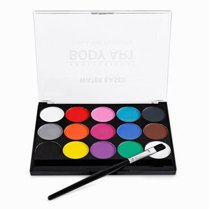 15 Colors Non Toxic Water Paint Oil Body Makeup Face Painting Art Kit With Brush For Christmas Fancy Carnival Vibrant Party