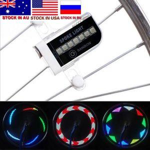 LED de la motocicleta de la bicicleta de ciclo de la rueda de la bici de la señal del rayo del neumático de luz 30 Cambios Ciclismo Accesorios
