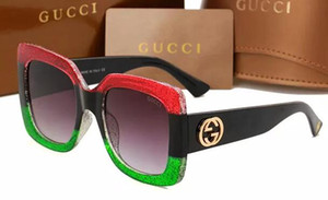 İtalya Boy Kare Güneş Kadınlar Retro Moda Tasarımcısı Büyük Çerçeve Güneş Gözlükleri Kadın Pembe Yeşil 0083