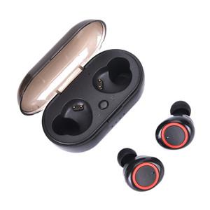 Casque sans fil Bluetooth 5.0 K19 TWS étanche Casque Intra-auriculaire jeu Sport Mini Twins écouteurs musique écouteurs avec chargeur étui pour téléphone
