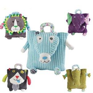 아기 동물 멋진 3D면 코듀로이 아이 어린이 5 개 개의 서로 다른 동물 봉제 키즈 백팩 학교 가방 배낭