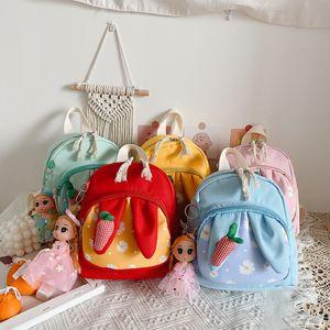 Kids Cartoon Rabbit Plush Bags Boys Girls Kawaii Backpacks Cute Lovely Toys School Children Fashion Bags Gifts Toddler Bags M200522
