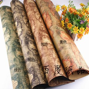 Kraft Paper Vintage Gift Color Nautical Chart Diy Book Bouquet Packaging Wallpaper Wrapping Wall Stickers 20pcs lot