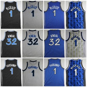Top Quality Shaquille # 32 O Neal Jersey Penny # 1 Hardaway Maglie Tracy # 1 McGrady Maglie Stitched College Shirts Mens O'Neal Camicie S-XXL