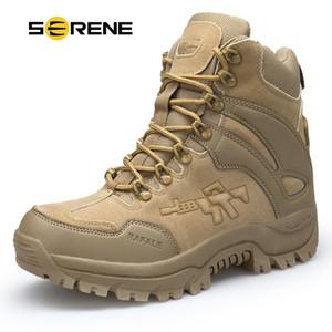 SERENE Marke Männer Stiefel Militärstiefel Kampf Herren Chukka Ankle Bot Taktische Große Größe Armee Bot Männliche Schuhe Sicherheit Motorradstiefel