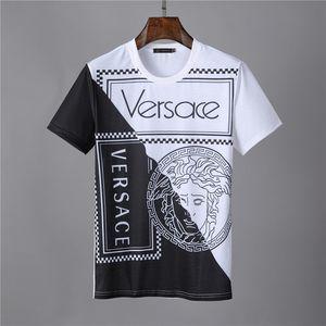 2020 Lüks Erkek Tasarım Tişört Tasarım Casual Kısa Kollu Moda Köpekbalığı Baskı Yüksek Kalite Erkek ve Kadın Hip Hop Tişört 34