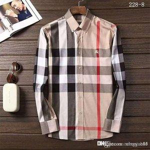 Frühling 2019 Männer beiläufige schmalere Button-down Lesen Gemusterte Hemden Comfort Soft Cotton Langarm rauter Flanell Plaid Shirt M-3XL