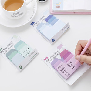 Kawaii Memo indice Pad Sticky Notes Cancelleria Sticker Gradient postato Planner Adesivi Notepads School office supplies